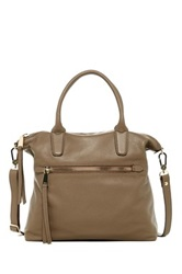 Abro Zip Pocket Leather Tote