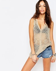 Only Knitted Longline Tunic Feather Grey Beige