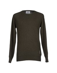 Dekker Knitwear Jumpers Men Military Green