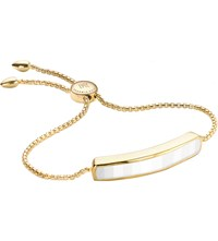 Monica Vinader Baja 18Ct Gold Plated Vermeil And White Chalcedony Bracelet
