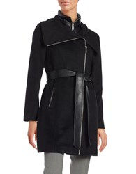 Bcbgeneration Belted Wool Blend Coat Black