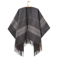 Joules Innis Check Print Wrap Black Grey