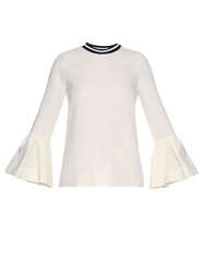 Mother Of Pearl Varden Wool Pique Top