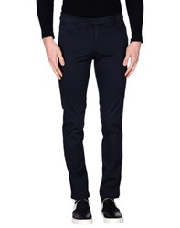 Royal Hem Trousers Casual Trousers Men Dark Blue