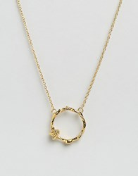 Bill Skinner Bee Floral Ring Pendant Gold