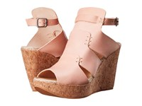 Free People Vachetta Rose Wedge Vachetta Women's Wedge Shoes Tan