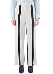 Acne Studios Obel Li Striped Pants White