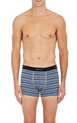 Paul Smith Men's Fine Striped Stretch Cotton Jersey Boxer Briefs No Color