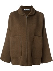 Barena Patch Pocket Coat Brown