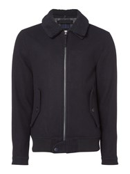 Criminal Men's Bremmer Borg Collar Bomber Navy