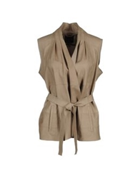 Hotel Particulier Leather Outerwear Khaki