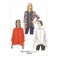 Vogue Very Easy Women's Batwing Sleeve Shirt Sewing Pattern 9110