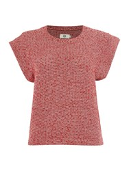 Noa Noa Blouse With Short Sleeves Red