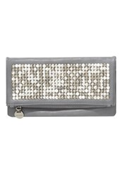 Hallhuber Clutch With Studded Fold Over Front Grey
