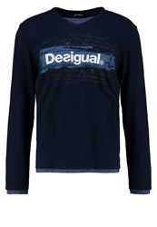 Desigual Long Sleeved Top Azul Ultramar Blue