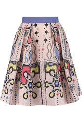 Peter Pilotto Circle Printed Cloque Mini Skirt Multi