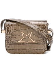 Golden Goose Deluxe Brand Crocodile Embossed Cross Body Bag Grey