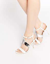 Paper Dolls Heeled Sandals Nude