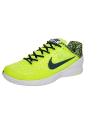 Nike Performance Zoom Cage 2 Basketball Shoes Volt Classic Charcoal White Neon Yellow