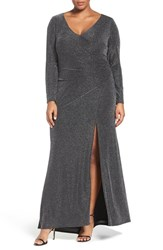 Vince Camuto Plus Size Women's Side Tuck Sparkle Gown