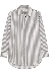 Equipment Daddy Striped Cotton Poplin Shirt Gray