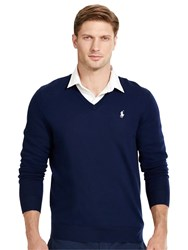 Polo Ralph Lauren Golf By Long Sleeve V Neck Jumper French Navy