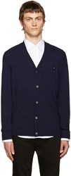 Acne Studios Navy Wool Dasher Cardigan
