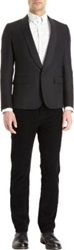 Band Of Outsiders No Bunk No Junk Satin Shawl Lapel One Button Tuxedo Jacket Black