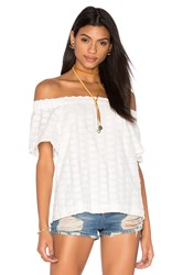 1. State Off Shoulder Blouse White