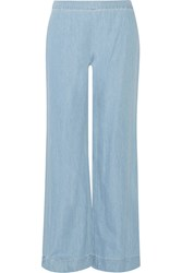 Alice Olivia Mid Rise Wide Leg Jeans Blue