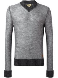 Al Duca D'aosta 1902 V Neck Sweater Grey