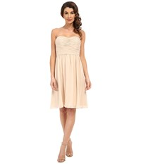 Donna Morgan Sarah Dress Short Rouched Dress Champagne Women's Dress Gold