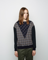 Band Of Outsiders Mixed Plaid Sweatshirt Grey Multi