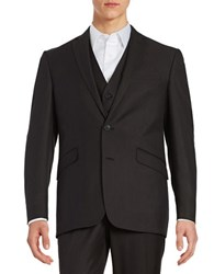 Kenneth Cole Reaction Textured Two Button Jacket Charcoal