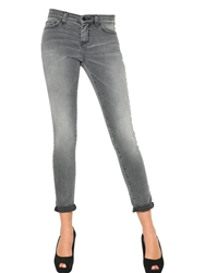 Space Style Concept Super Skinny Washed Stretch Denim Jeans Light Grey