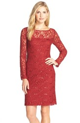 Js Collections Women's Illusion Lace Dress Lipstick