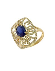 Effy Royale Bleu 14Kt. Yellow Gold Sapphire And Diamond Ring Sapphire Gold