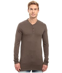 Fjall Raven Lappland Merino Henley Long Sleeve Dark Olive Men's Clothing