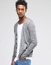 Asos Cardigan In Black And White Twist Cotton Black And White Twist