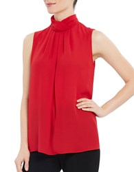 Ellen Tracy Solid Sleeveless Shell Top Red