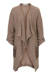 Betty Barclay Embellished Waterfall Cardigan Brown