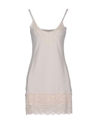 By Ti Mo Short Dresses Light Grey