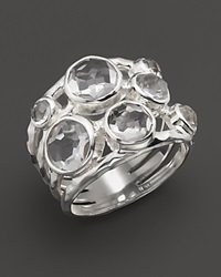 Ippolita Sterling Silver Rock Candy Constellation Ring In Clear Quartz No Color