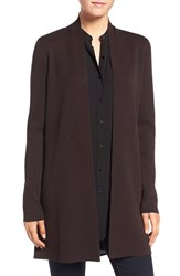 Eileen Fisher Women's Long Wool Crepe Jersey Cardigan