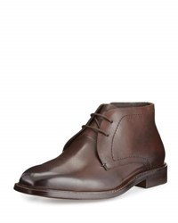 Kenneth Cole Sum One Leather Desert Boot Brown