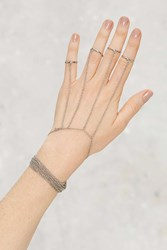 Nasty Gal Ring Trouble Chain Hand Piece
