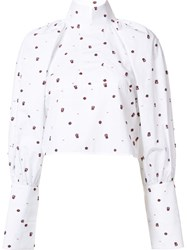 Ellery Regency Crop Shirt White