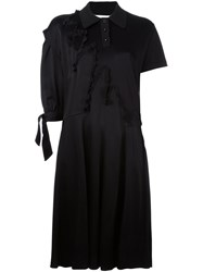 Maison Martin Margiela Asymmetric Sleeve Shirt Dress Black