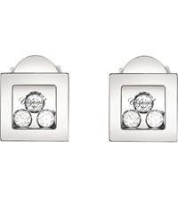 Chopard Happy Diamonds Icons 18Ct White Gold And Diamond Earrings