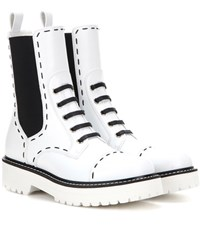 Dolce And Gabbana Leather Boots White
